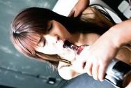 Megumi Morita Japanese chick sucks cock in the toilet