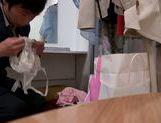 Sexy Asian doll Haruki Satou shows toy insertion for voyeur