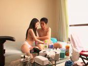 Hairy pussy of amateur Japanese AV Model is nailed
