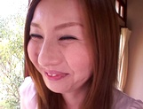 Dirty Asian milf Yui Tatsumi, sucks cock in special manners picture 14