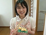 Big ass hotty Erina Nagasawa performing blow dick in kitchen picture 9