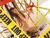 Naughty MILF Kaede Matsushima rides a big toy passionately