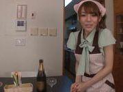 Playful housewife Rio in nurse uniform is banged hard