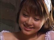 Akiho Yoshizawa pleasures a stiff shlong