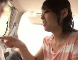Car sex with seductive Asian milf Reiko Nakamori picture 11