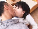 Horny Japanese sex doll Miyu Sakai stretches her holes picture 11
