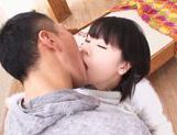 Horny Japanese sex doll Miyu Sakai stretches her holes picture 12