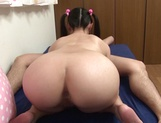 Naughty girl with shaved pussy Tomomi Motozawa in a kinky action