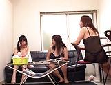 Yumi Kazama banged in hot lesbian fuck
