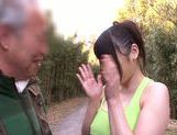 Busty teen Honami Uehara sucks and rides cock of old dude picture 5
