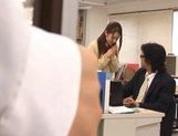 Shelly Fuji Asian teen in school uniform sucks cock picture 11