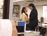 Shelly Fuji Asian teen in school uniform sucks cock picture 13