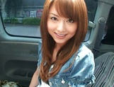 Hot teen, Akiho Yoshizawa gives a steaming blowjob in a car picture 8