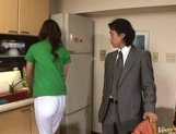 Riko Tachibana Asian office girl cleans rooms and fucks with guests picture 11