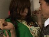 Riko Tachibana Asian office girl cleans rooms and fucks with guests picture 13