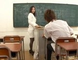 Miho Kanda Sexy Asian babe is fucked in school picture 7