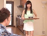 Lustful hosewife Ayaka Yuuko fucked in short mini picture 2
