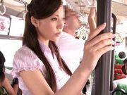 Blowjob pro Ruri Saijo blowbang for a big titty milf