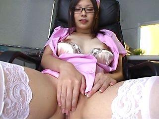 Asian nurse Yuna Adachi gets seduced by horny male
