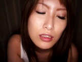 Busty Asian milf, Yume Mizuki gives hot tit fuck picture 1