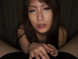 Busty Yumi Mizuki Asian milf gives astounding pov blowjob