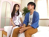 Foxy Claire Hasumi pleasures a lucky dude picture 12