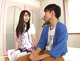 Foxy Claire Hasumi pleasures a lucky dude picture 14