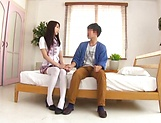 Foxy Claire Hasumi pleasures a lucky dude