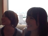 Two amazing milfs, Emiri Takayama, and her girlfriend share cock