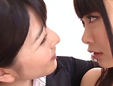 Uehara Ai Nagomi and Natsume make out erotically picture 4