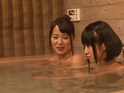Curvy Asian lesbians is doing themselves lustly in a bath