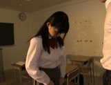 Delicious Japanese teen chick Kaho Mizuzaki stretches pussy for banging