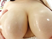 Busty Tokyo girl hard fucked and creamed on pussy