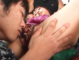 Anna Oguri amateur Japanese threesome sex show picture 13