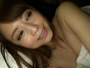Naughty Asian teen, Akiho Yoshizawa enjoys morning blowjob and banging