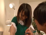 Homemade hardcore experience for Asian Ami Hyakutake