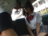 Horny Asian schoolgirl, Anna Oguri gives a steaming blowjob in a car picture 11