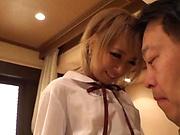 Aiba Reika makes a dude enjoy a sensual kissing