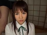 Yuki Asahi naughty Asian schoolgirl in hardcore mmf action