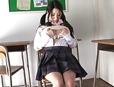 Hot teen schoolgirl Erika Yamaguchi fingers herself in the class