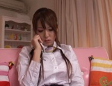 Amateur teen Yui Hatano plays with pussy in sensual solo show