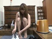 Hot fingering for a nice teen Kurumi Kino