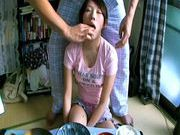Lala Suzumiya Japanese model sucks cock in the kitchen after dinnerjapanese pussy, asian teen pussy}