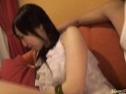 Aya Inami Sexy Asian model in stockings rubs her hot pussy