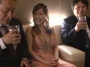 Glamorous Japanese bombshell Erika Kitagawa gets her pussy creamed