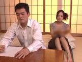 Horny milf Yukina Momota likes to tease cock picture 1