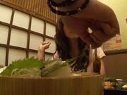 Glamorous milf in sexy bikini Rina Kato gets pussy teased