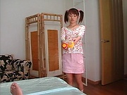 Hot teen Hikaru Houzuki, with pigtails rides a big hard dick