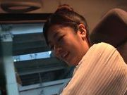 Cute Asian chick Manatsu Yumeka licks anus and gets drilled