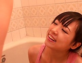 Horny lesbian babes Ryo Sena, and Rabu Saotome have fun in the bathroom picture 11